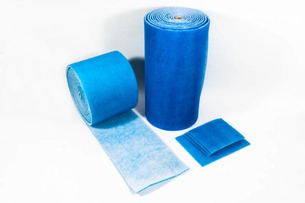Filtermatte blau-weiß auf Rolle