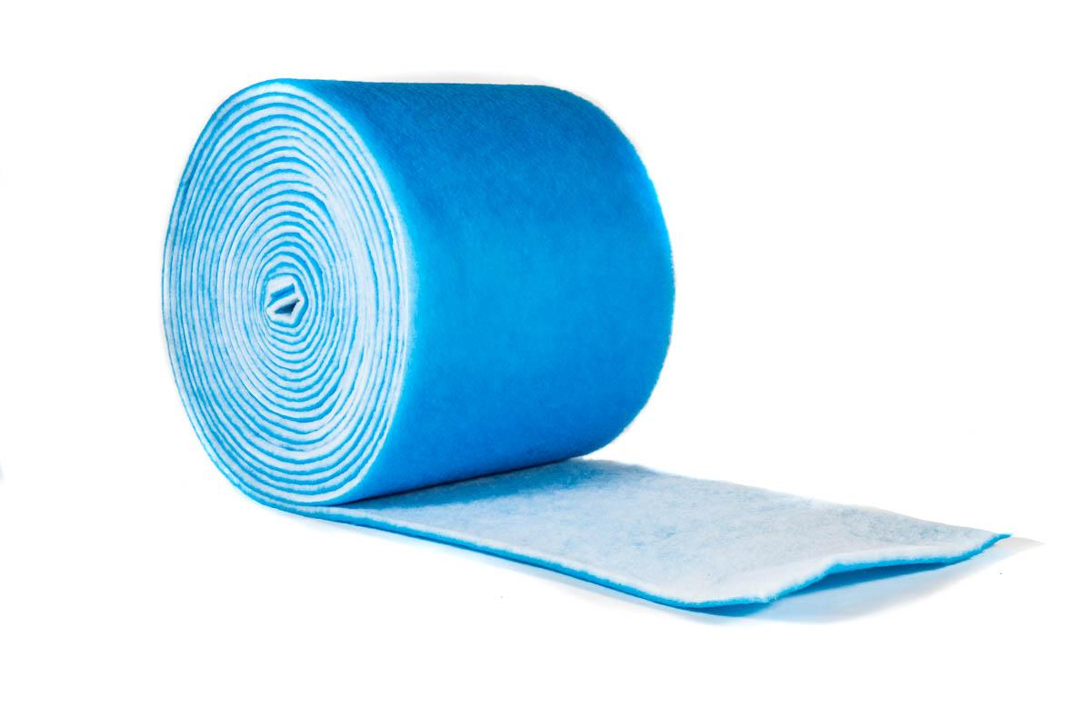 Filtemattenrolle blau-weiß groß
