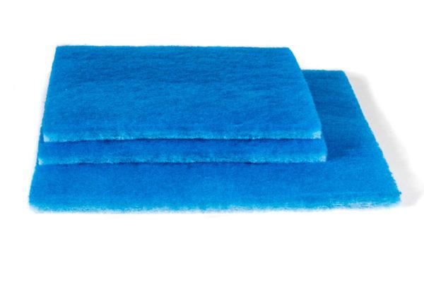 Filtermatte blau-weiß gestapelt